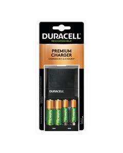 Duracell Battery, Coppertop Rechargeable Chargers w/ Stay charged Batteries, Nickel Metal Hydride, 2AA/2AAA, PK4