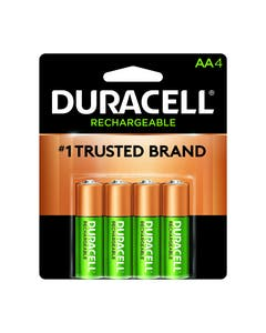 Duracell Battery, Coppertop Rechargeable Stay charged, Nickel Metal Hydride, AA, PK4