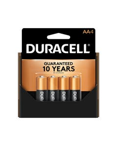 Duracell Battery, Coppertop, Alkaline, AA, Pack of 4