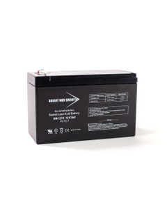 Bright Way Replacement Battery for SLA 12V 7AH F1 Terminal for GT12080-HG; for FiOS and UPS